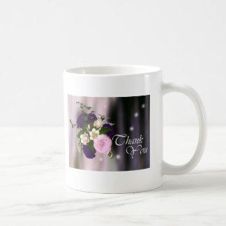 Thank You Mug - Purple & Pink Rose Bouquet