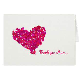 Thank you Mum Greeting Card