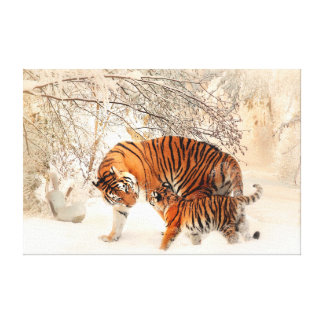 Thank you Mum Tiger and Cub Canvas Print