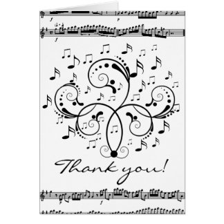 Thank you music greeting card