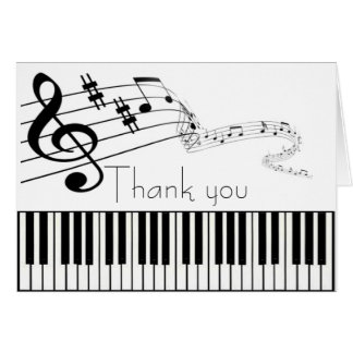 Thank you Music Note Care Card