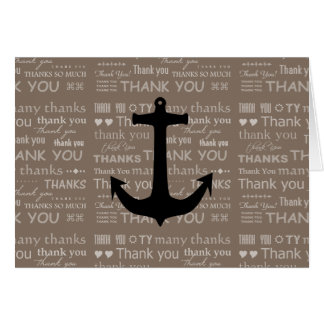 Thank You Nautical Anchor Best Man Note Card
