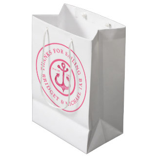 Thank You | Nautical Pink Anchor Gift Bag