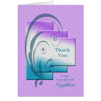 Thank you neighbor, with elegant rectangles card