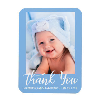 Thank You New Baby Blue Magnet