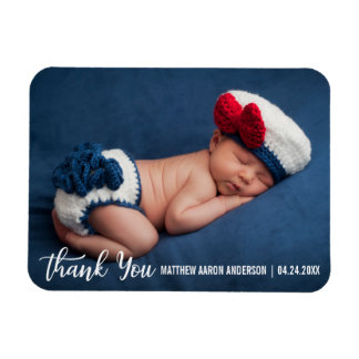 Thank You New Baby Modern W Magnet