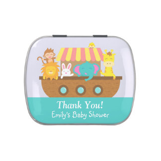 Thank You, Noah's Ark, Baby Shower Party Favor Jelly Belly Tins