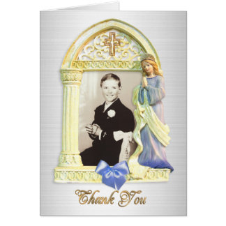 Thank you note Angel frame First Communion Card
