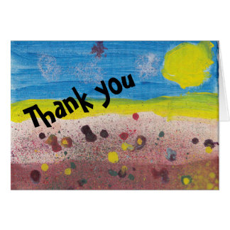 Thank you note - blank card