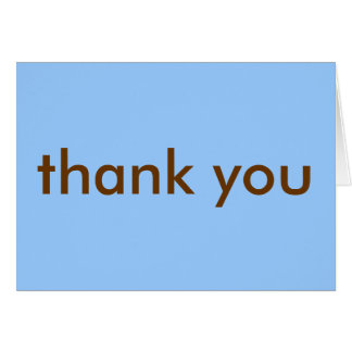 Thank You Note - Blue/Brown Note Card