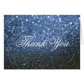 Thank You Note Card - Blue Lit Nite Fab