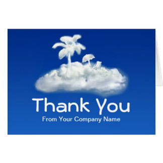 thank you note card for travel agency