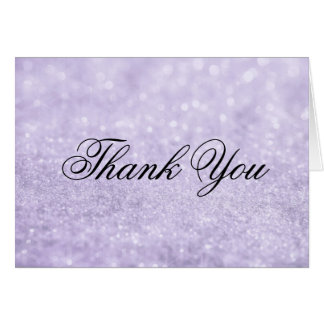 Thank You Note Card - Lit Purple Glit Fab