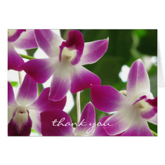 Thank You Note Card ~ Orchids ~ Floral Photography