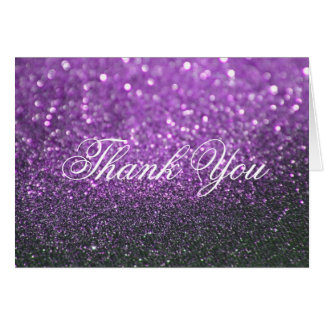 Thank You Note Card - Purple Lit Nite Fab