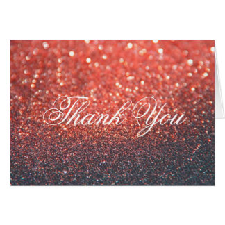 Thank You Note Card - Red Lit Nite Fab