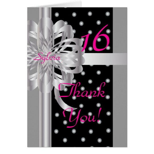 Thank You Note For A Sweet Sixteen-Customise Card