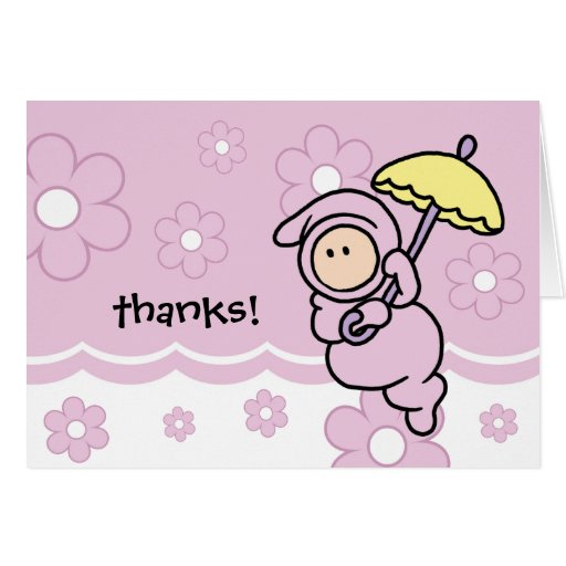 Baby Gift Cards Uk : Thank you note for baby gift or shower card zazzle