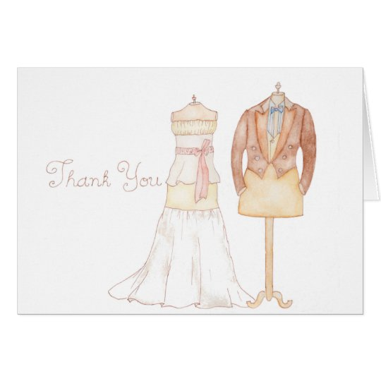 Thank You note in an old-fashioned style Card