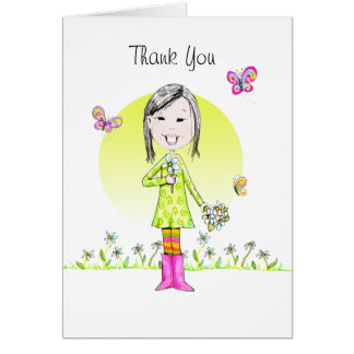Thank You note w/Daises Note Card