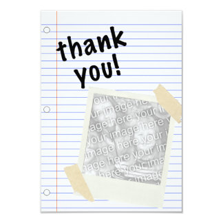 thank you notebook paper 9 cm x 13 cm invitation card