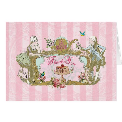 Thank You Notes Marie Antoinette Let Them Eat Cake Greeting Card