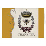 Thank You Notes - Queen Bee Royal Wedding Greeting Cards