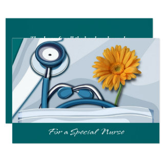 Thank You Nurse Custom Flat Greeting Cards