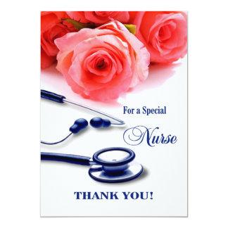 Thank You Nurse. Customizable Greeting Cards 13 Cm X 18 Cm Invitation Card