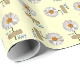Thank You Nurse Daisy Design Wrapping Paper