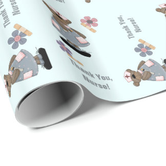Thank You Nurse. Teddy Bear Gift Wrapping Paper