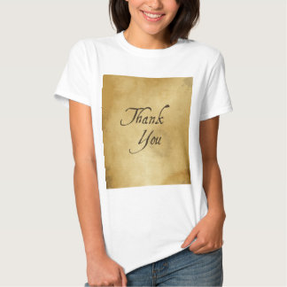 Thank you old vintage paper design t shirts