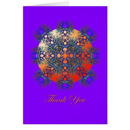 Thank You on Purple Card