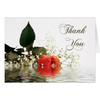 Thank You Orange Rose Greeting Card