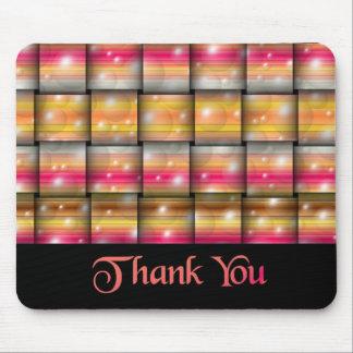 Thank You Orange Swirl Mouse Pad