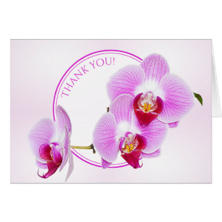 """""""Thank You""""  Orchid Floral Photography Cut Out Card"""