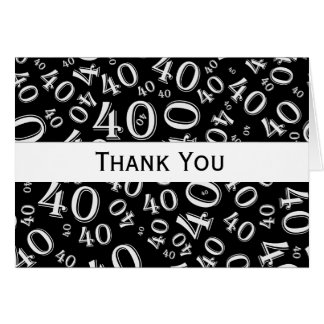 Thank You Over The Hill 40th Birthday Theme Note Card