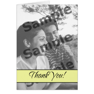 Thank You - Pale Yellow Greeting Card