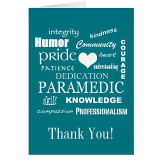 Thank You!/Paramedic/EMT Card