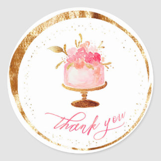 ★ Thank you  Patisserie ,Bakery ,Cakes & Sweets Classic Round Sticker