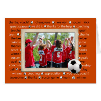 Thank you photo card for Soccer Coach