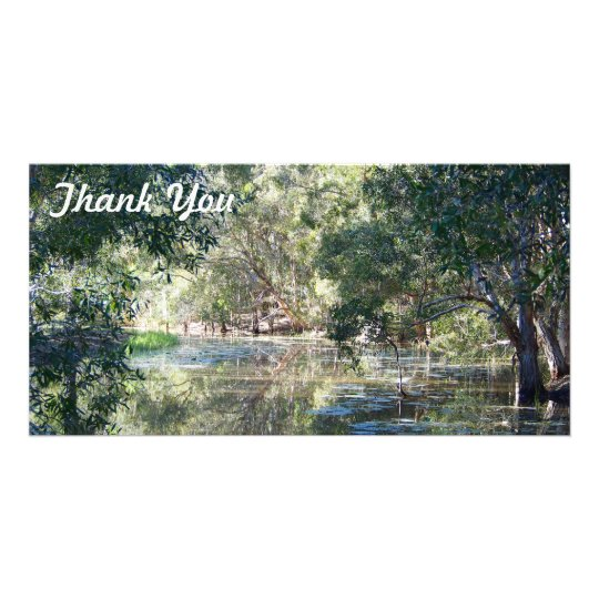 Thank You photo card - Reflections