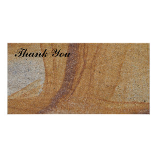 Thank You photo card - sandstone