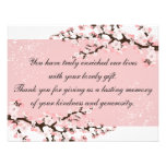 Thank You Photo Wedding Card Pink Cherry Blossoms Invitations