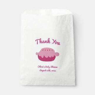 Thank you pie paper baby shower party favor bags