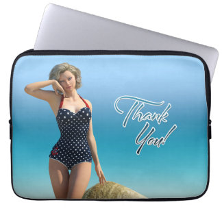 Thank You Pin Up Norma Computer Sleeves