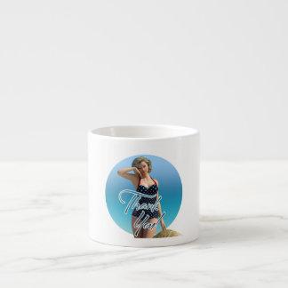 Thank You Pin Up Norma Espresso Mug