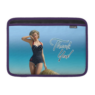 Thank You Pin Up Norma MacBook Sleeves