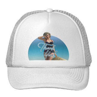 Thank You Pin Up Norma Mesh Hat