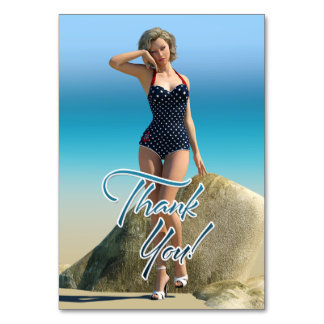 Thank You Pin Up Norma Table Card